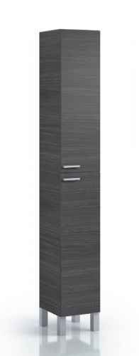 Milano Tall Narrow Bathroom Cupboard Oak Grey - 2477